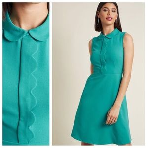 ModCloth Rooftop Grooves A-Line Dress in Turquoise